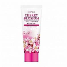 крем для рук и тела питательный deoproce hand & body cherry blossom lovery