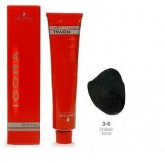 SCHWARZKOPF PROFESSIONAL 3-0 краска для волос Темный коричневый натуральный / Игора Роял 60 мл