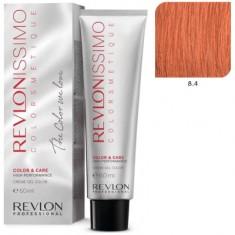 REVLON PROFESSIONAL 8.4 краска для волос, светлый блондин медный / RP REVLONISSIMO COLORSMETIQUE 60 мл