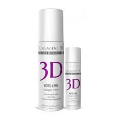 Коллаген 3Д BOTO LINE Крем для лица с Syn®-ake комплексом для коррекции мимических морщин 30 мл Collagene 3D
