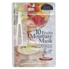 Japan Gals Маска с экстрактами 10 фруктов Pure5 Essential 7 шт