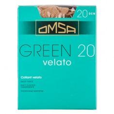 Колготки женские в коробочке OMSA GREEN 20 den caramello р-р 3