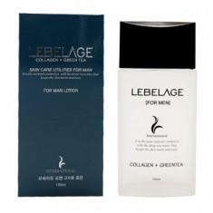увлажняющий лосьон для мужчин с коллагеном и зеленым чаем lebelage collagen+green tea skincare utilites for men lotion