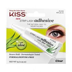 Kiss, Клей для ресниц с алоэ, прозрачный, 7 г