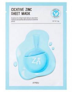 Тканевая маска с цинком A'PIEU Cicative Zinc Sheet Mask