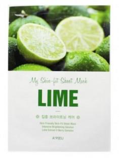 Tканевая маска с лаймом A'PIEU My Skin-Fit Sheet Mask Lime