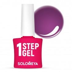 SOLOMEYA Гель-лак однофазный для ногтей, 22 слива / One Step Gel Plum 5 мл