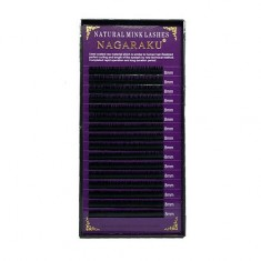 NAGARAKU, Ресницы на ленте Natural Mink, 8/0,07 мм, D-изгиб