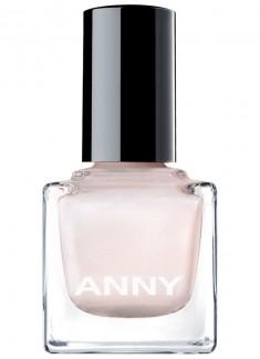 Лак для ногтей Белый с розовым мерцанием ANNY