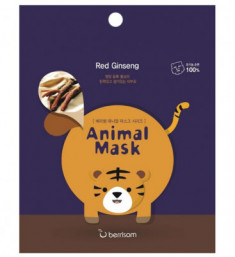 Маска таканевая с экстрактом женьшеня Berrisom Animal mask series Tiger 25мл