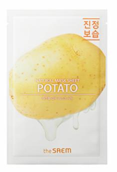 Маска тканевая с экстрактом картофеля THE SAEM Natural Potato Mask Sheet 21мл