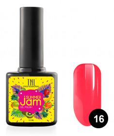 TNL PROFESSIONAL 16 гель-лак для ногтей, неоновый ярко-коралловый / Summer Jam 10 мл
