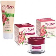 My Rose of Bulgaria Набор Крем для лица дневной против морщин 50мл+Крем для лица ночной против морщин 50мл+Крем для рук 75мл