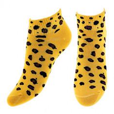 Носки женские SOCKS LEOPARD yellow р-р единый