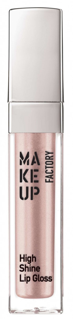 MAKE UP FACTORY Блеск с эффектом влажных губ, 10 молочно-розовый перламутр / High Shine Lip Gloss 6,5 мл