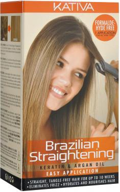 KATIVA Набор для кератинового выпрямления и восстановления волос с маслом арганы / KERATINA