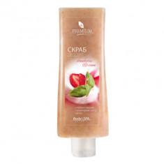 Скраб-дессерт Premium Silhouette Srawberry&Cream 200мл