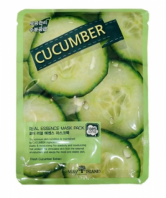 Маска тканевая с огурцом May Island Real Essense Cucumber Mask Pack 25мл