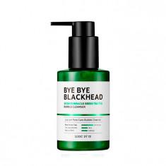 пенка-маска от черных точек some by mi bye bye blackhead 30 days miracle green tea tox bubble cleanser