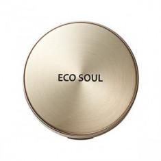 Пудра компактная золотая сменный блок THE SAEM Eco Soul Luxury Gold Pact 21 Light BeigeRefill