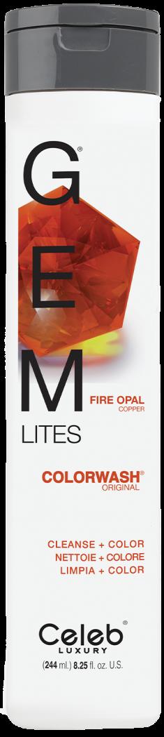 CELEB LUXURY Шампунь для яркости цвета, огненный опал / Gem Lites Shampoo Fire Opal 244 мл
