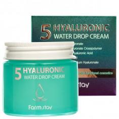 крем для лица суперувлажняющий с гиалуроновым комплексом farmstay hyaluronic 5 water drop cream
