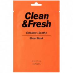 Тканевая маска для гладкости и регенерации кожи EUNYUL Clean & Fresh Exfoliate/Soothe 22мл