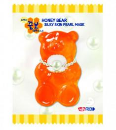 Тканевая маска с экстрактом жемчуга FRIENVITA JellyFrien Honey Bear Silky Skin Pearl Mask 23 г