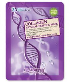 Тканевая 3D маска с коллагеном FoodaHolic Collagen Natural Essence Mask 23мл