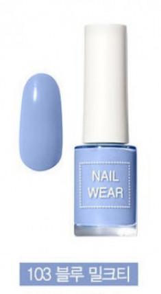 Лак для ногтей THE SAEM Nail wear 103. Blue Milk Tea