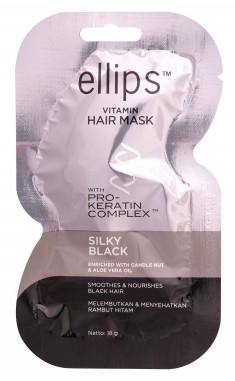 ELLIPS Маска с кератиновым комплексом для темных волос / Pro-Keratin Silky Black 18 г