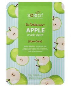 Маска тканевая отшелушивающая с яблоком Soleaf So Delicious Apple Mask Sheet 25мл