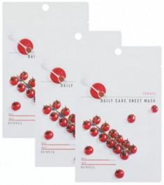Набор тканевых масок с экстрактом томата EUNYUL TOMATO DAILY CARE SHEET MASK 22г*3шт