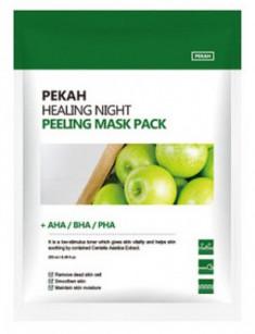 Тканевая маска с AHA-BHA-PHA кислотами PEKAH Healing Night Peeling Mask Pack 25мл*5шт