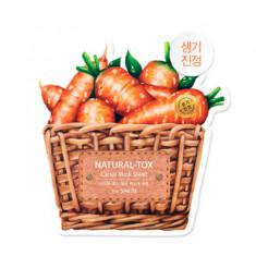 Маска тканевая морковная THE SAEM Natural-tox Carrot Mask Sheet 20гр