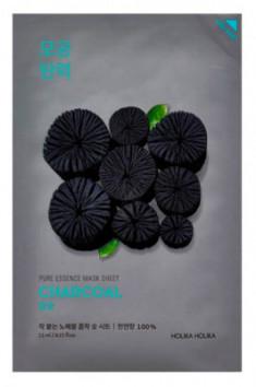 Маская тканевая успокаивающая с углем Holika Holika Pure Essence Mask Sheet Charcoal 23 мл