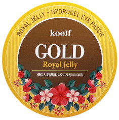 KOELF Патчи гидрогелевые с коллоидным золотом и пчелиным маточным молочком для области вокруг глаз 60 шт