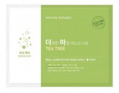 Маска тканевая для чувствительной кожи NATURE REPUBLIC REAL COMFORTING MASK SHEET [TEA TREE] 24гр
