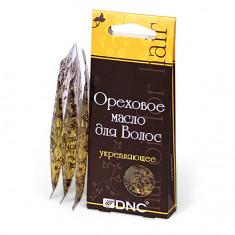 DNC, Ореховое масло для волос «Укрепляющее», 3х15 мл