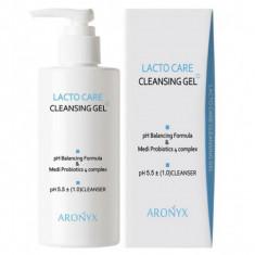 кислородная пенка-гель для умывания с лактобактериями medi flower aronyx lacto care cleansing gel