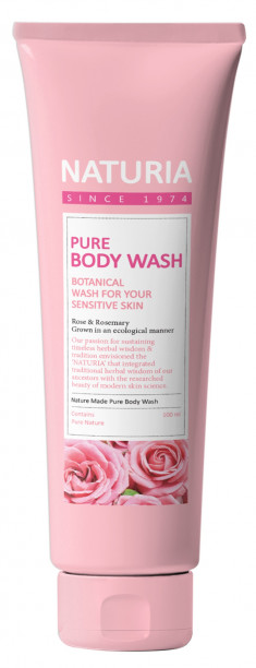 EVAS Гель для душа Роза - розмарин / NATURIA PURE BODY WASH, Rose & Rosemary 100 мл