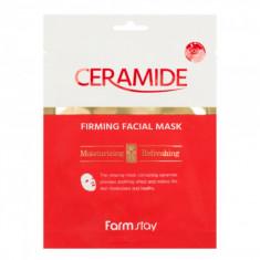 укрепляющая тканевая маска с керамидами farmstay ceramide firming facial mask