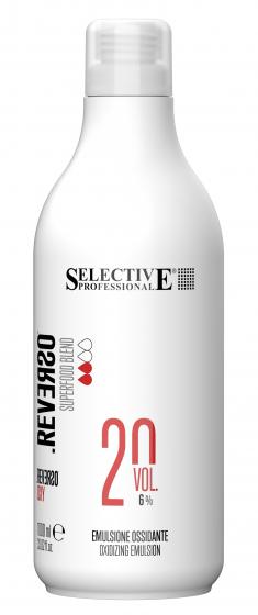 SELECTIVE PROFESSIONAL Эмульсия окисляющая 6% (20 vol) / REVERSO OXY 1000 мл