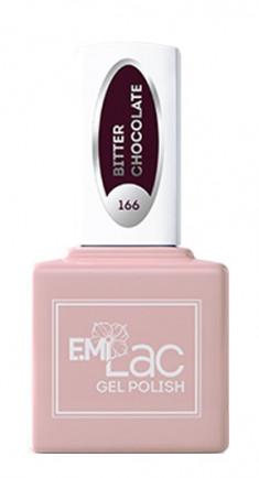 E.MI 166 FQ гель-лак для ногтей, Горький шоколад / E.MiLac 6 мл
