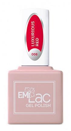 E.MI 008 гель-лак для ногтей, Роскошный красный / E.MiLac 6 мл