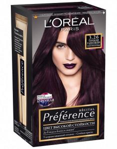 Loreal Preference Краска для волос тон 3.26 Терпкий глинтвейн Loreal Paris