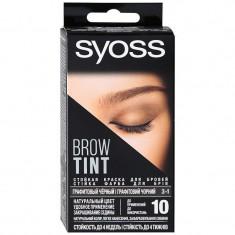 Syoss Brow Tint 3-1 Графитовый чёрный краска для бровей комплект