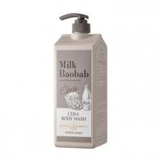 гель для душа с керамидами, с ароматом белого мыла milkbaobab cera body wash white soap