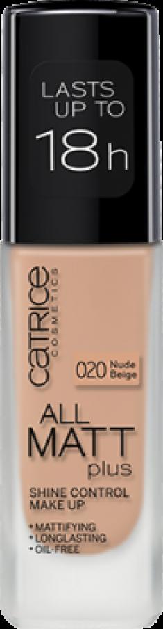 Основа тональная CATRICE All Matt Plus Shine Control Make Up 020 Nude Beige бежевый