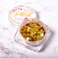 Blesk, Дизайн для ногтей «Мерцающий блеск», золотой